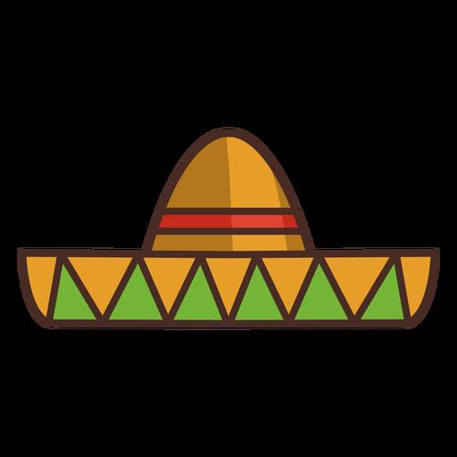 Trazo de colorido icono de sombrero mexicano
