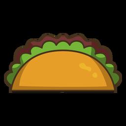 Trazo de icono colorido taco mexicano