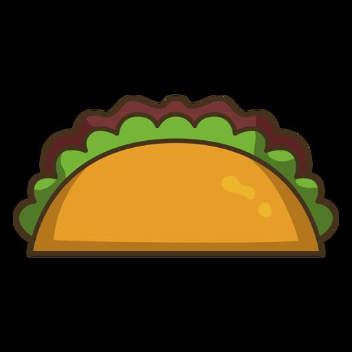 Trazo de icono colorido taco mexicano Transparent PNG