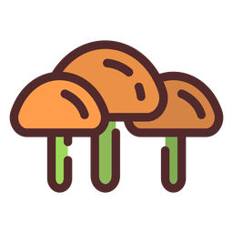 Mushrooms icon stroke