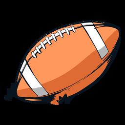 Ilustración de pelota de fútbol de la nfl