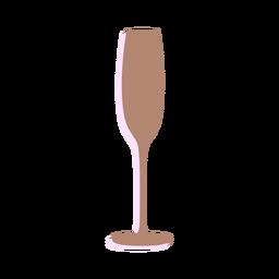 Año nuevo silueta de copa de champán