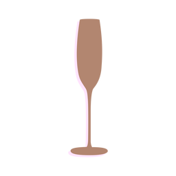 New year champagne glass silhouette