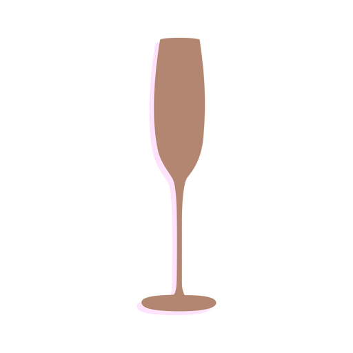 New year champagne glass silhouette Transparent PNG