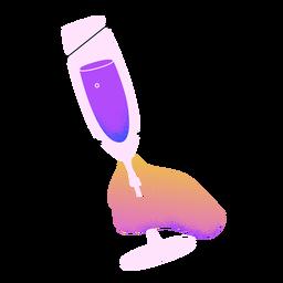 Mano de tostadas de champán de año nuevo