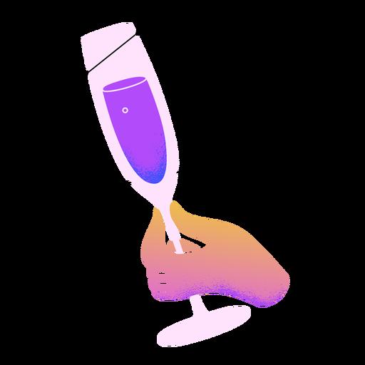 Mano de tostadas de champán de año nuevo Transparent PNG