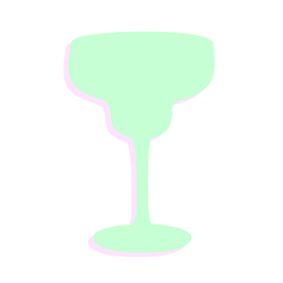New year glass cocktail silhouette