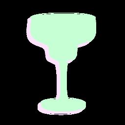 Silhueta de coquetel de vidro de ano novo