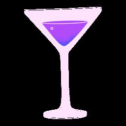 Copo de martini de ano novo