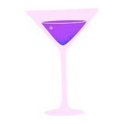 New year martini glass