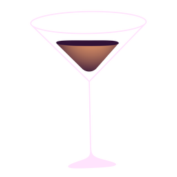 Neujahr Martini Glas Illustration
