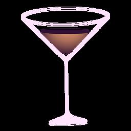 Neujahr Martini Glas Illustration