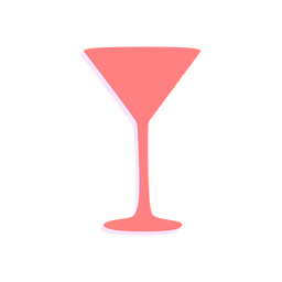 Neujahr Martini Glas Silhouette