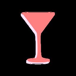 Silueta de copa de martini de año nuevo