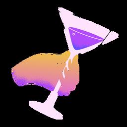 Neujahr Martini Toast Hand