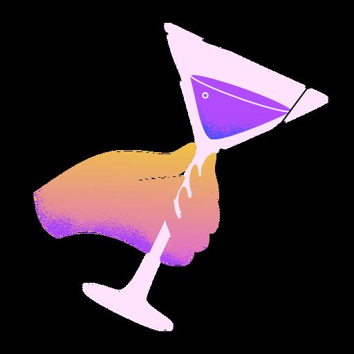 Año nuevo martini tostadas a mano Transparent PNG