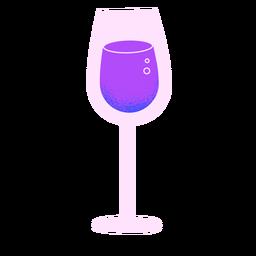 Copo de vinho de ano novo