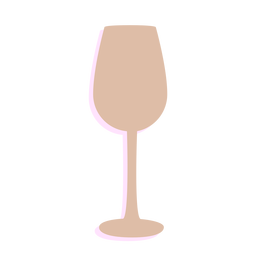 New year wine glass silhouette