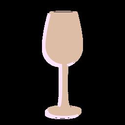 Silhueta de copo de vinho de ano novo