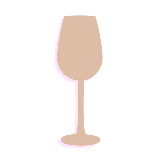 New year wine glass silhouette