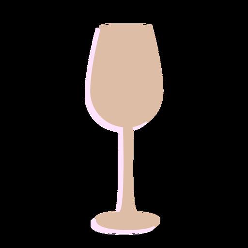 Silueta de copa de vino de año nuevo