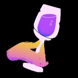 Mão de brinde de vinho de ano novo