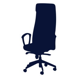 Office chair ergonomic silhouette