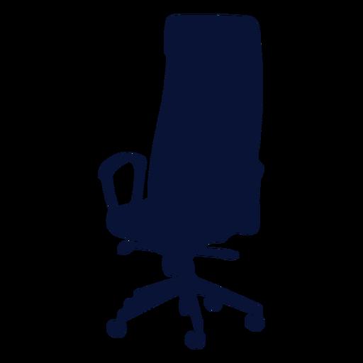 Office chair ergonomic silhouette