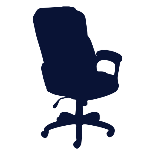 Office chair silhouette Transparent PNG