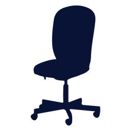 Office chair task silhouette