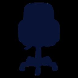 Silla de conferencia de oficina silueta