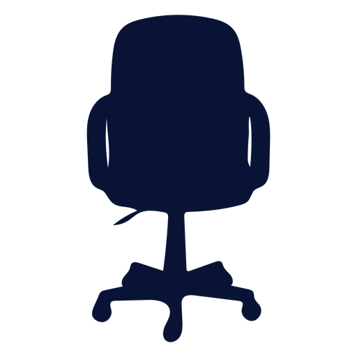Office conference chair silhouette