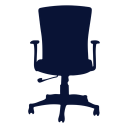 Office ergonomic chair silhouette