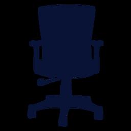 Silueta de silla ergonómica de oficina