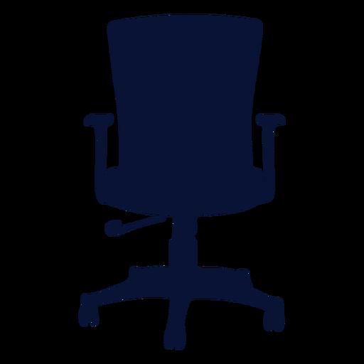 Office ergonomic chair silhouette