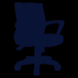 Büro zierlichen Stuhl Silhouette