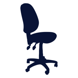 Office task chair silhouette