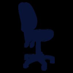 Silueta de silla de trabajo de oficina