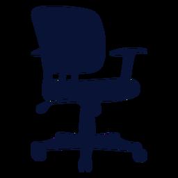 Silueta de silla pequeña de tarea de oficina