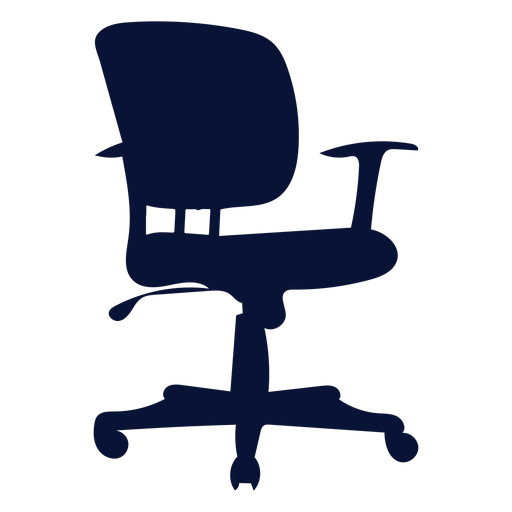 Office task petite chair silhouette Transparent PNG