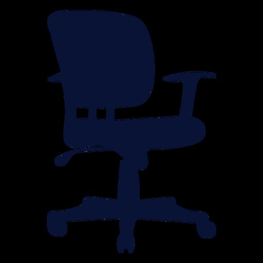 Silueta de silla pequeña de tarea de oficina Transparent PNG