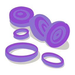 Onion rings isometric