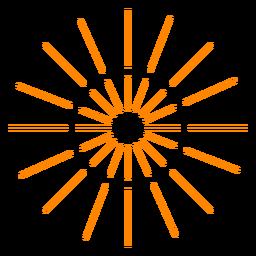 Naranja 2 anillos de fuegos artificiales chispas trazo