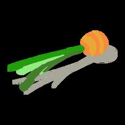 Orange Karottenoberteil isometrisch