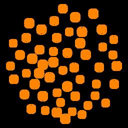 Orange dotted firework sparks stroke