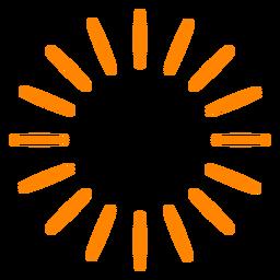 Orange firework sparks stroke