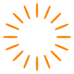 Trazo de chispas de fuegos artificiales naranja
