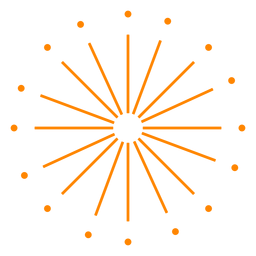 Fuegos artificiales de año nuevo naranja chispas trazo