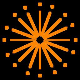 Orange Neujahr Feuerwerk Funken Schlaganfall