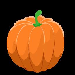 Abóbora laranja isométrica